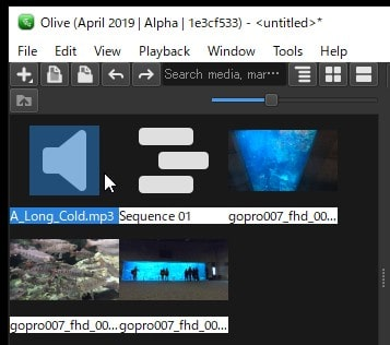 BGM音楽ファイルを挿入する方法 Olive動画編集ソフト