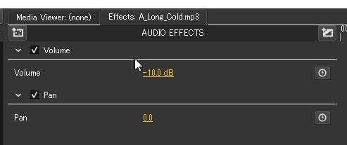 BGM音楽ファイルの音量調整方法 Olive動画編集ソフト