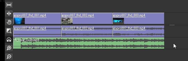 BGM音楽を挿入する方法 Olive動画編集ソフト