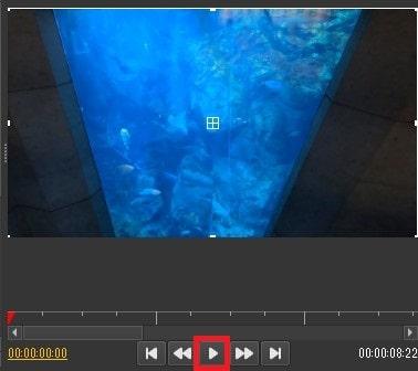 タイムラインを再生する方法 Olive動画編集ソフト