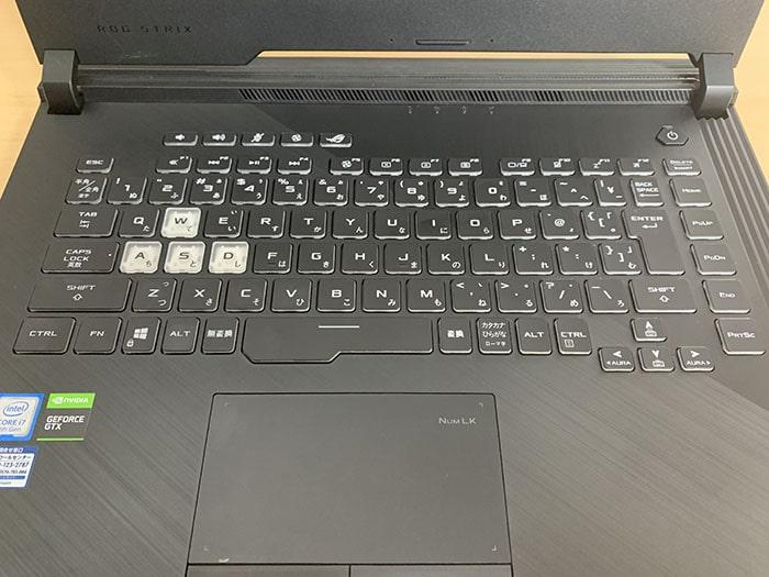 ASUSノートパソコンROG Strix G G531GU