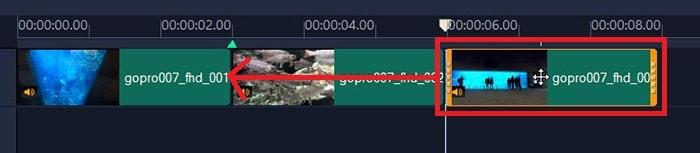 動画の位置を変更する方法 VideoStudio2020