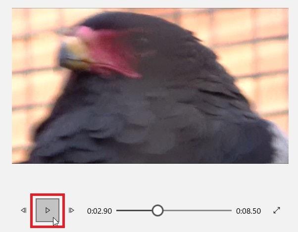 タイムラインの動画を再生する方法 動画編集フリーソフトMicrosoftフォト(ビデオエディター)