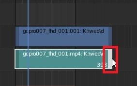 動画ファイルカットトリミングする方法 3DCGフリーソフトBlender