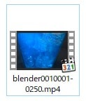 タイムラインを書き出す方法 3DCGフリーソフトBlender