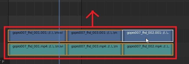 素材を別トラックに移動する方法 3DCGフリーソフトBlender