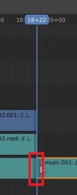 BGM音楽をタイムラインに挿入する方法 3DCGフリーソフトBlender
