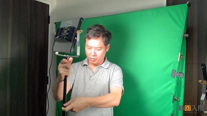 照明セッティング グリーンバックで背景を透過させる方法