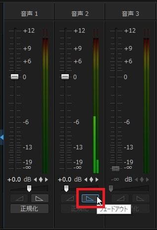 BGM音楽をフェードアウト・インさせる方法 画編集ソフトPowerDirector19/365の使い方
