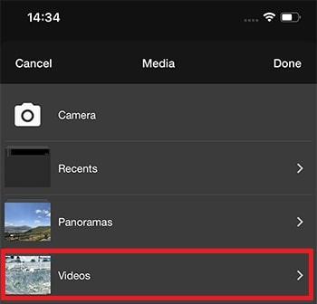 動画を読み込む方法 WeVideoの使い方
