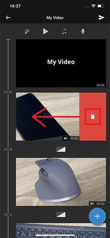動画を削除する方法 WeVideoの使い方