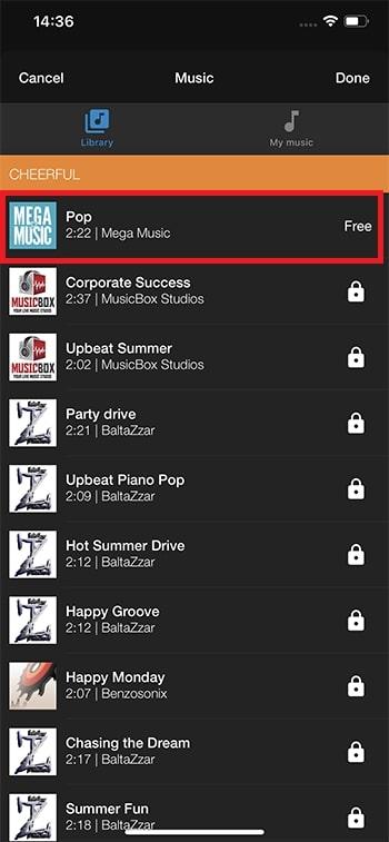 BGM音楽を追加する方法 WeVideoの使い方