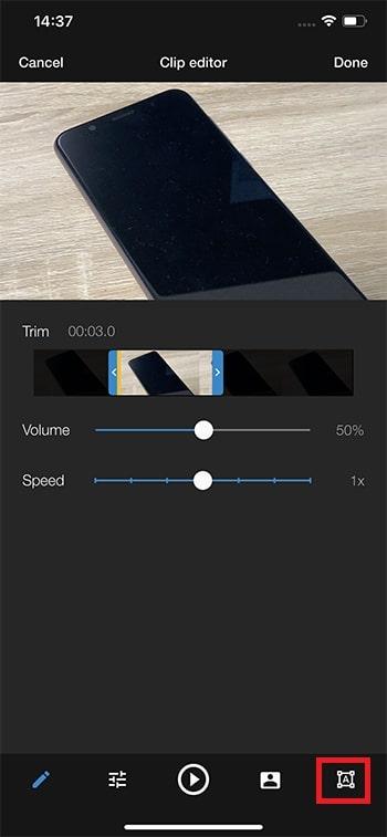 テキストテロップを挿入する方法 WeVideoの使い方