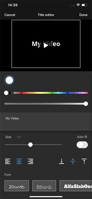 オープニングタイトルを編集する方法 WeVideoの使い方