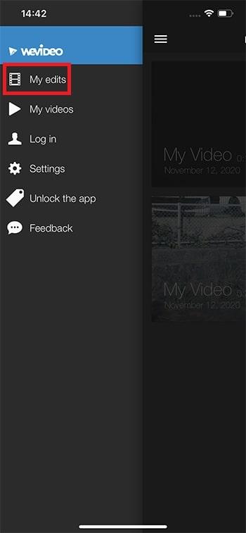 プロジェクト一覧に戻る方法 WeVideoの使い方