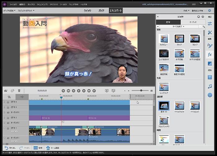 Adobe Premiere Elements2021の使い方(1) 機能の紹介 動画編集ソフト アドビプレミアエレメンツ入門