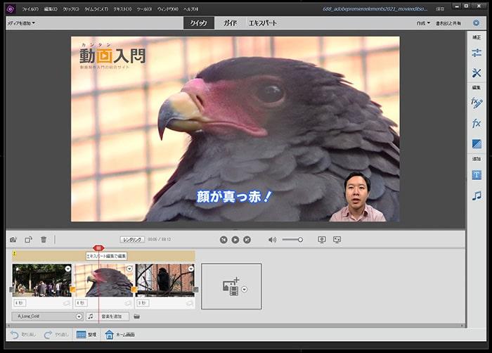 クイック編集モード Adobe Premiere Elements2021の使い方