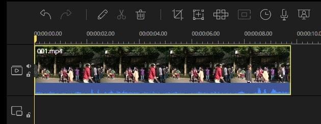 タイムラインの表示を拡大縮小する方法 動画編集ソフトEaseUS Video Editor