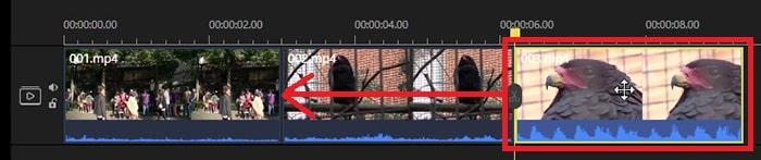 動画を移動させる方法 動画編集ソフトEaseUS Video Editor