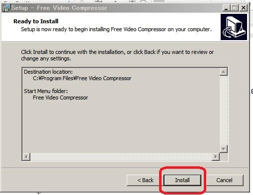 動画圧縮フリーソフトfree-video-compressorインストールする方法