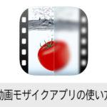動画モザイクアプリの使い方 iPhone版無料アプリ